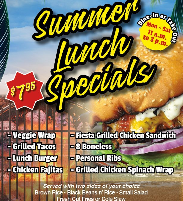 Summer Lunch Specials